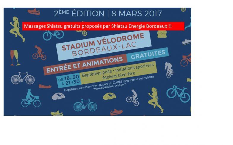 ACTU : Shiatsu gratuit au Vélodrome le 8 mars !
